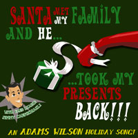 adams wilson: santa met my family (and he took my presents back)